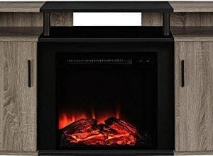 Ameriwood Home Carson Electric Fireplace TV Console TVs 0 300x221