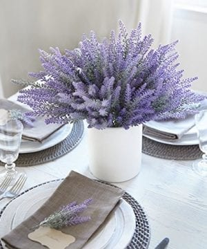Artificial Lavender Flowers Large Pieces To Make A Bountiful Flower Arrangement Nearly Natural Fake Plant To Brighten Up Your Home Party And Wedding Decor 0 300x360