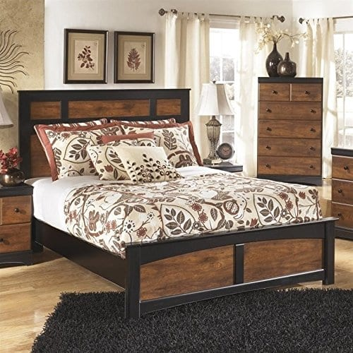 Ashley Aimwell Wood Queen Panel Bed In Brown 0