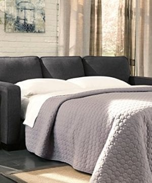 Ashley Furniture Signature Design Alenya Sleeper Sofa With 2 Throw Pillows Queen Size Vintage Casual Charcoal 0 0 300x360