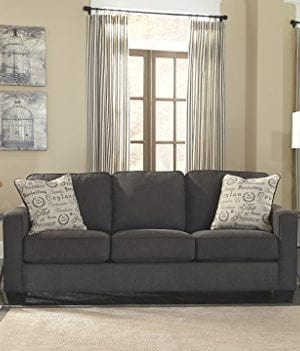 Excellent Signature Design By Ashley Alenya Queen Size Sleeper Sofa W 2 Throw Pillows Charcoal Ncnpc Chair Design For Home Ncnpcorg