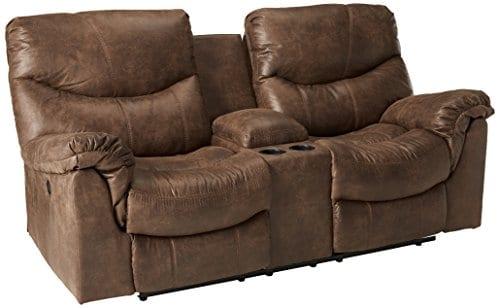 Awesome Ashley Furniture Signature Design Alzena Recliner Sofa Manual Reclining Gunsmoke Brown Interior Design Ideas Skatsoteloinfo