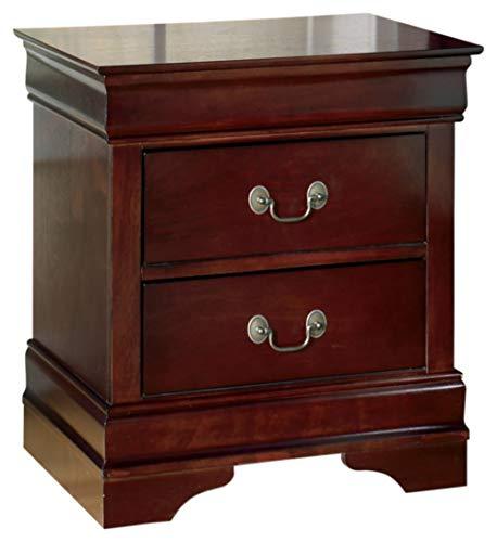Ashley Furniture Signature Design Alisdair Nightstand 2 Drawers Traditional Rectangular Dark Brown 0