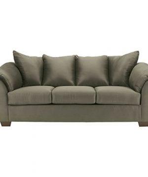 Ashley Furniture Signature Design Darcy Contemporary Microfiber Sofa Sage 0 300x360