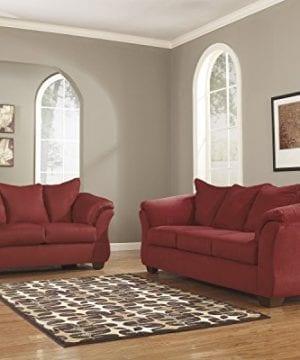 Ashley Furniture Signature Design Darcy Contemporary Microfiber Sofa Salsa 0 1 300x360