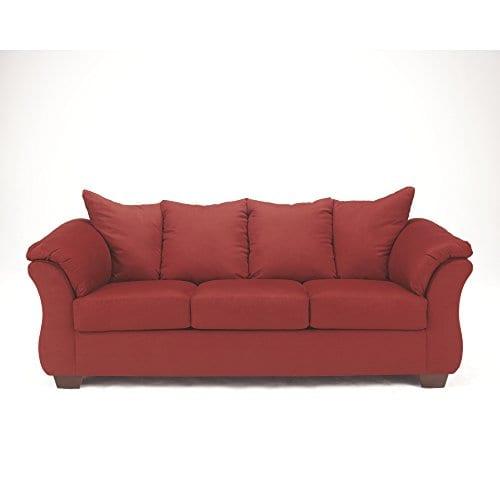 Ashley Furniture Signature Design Darcy Contemporary Microfiber Sofa Salsa 0