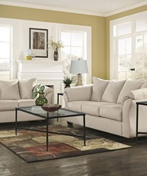 Ashley Furniture Signature Design Darcy Contemporary Microfiber Sofa Stone 0 1 300x360