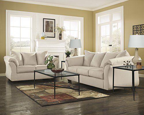 Ashley Furniture Signature Design Darcy Contemporary Microfiber Sofa Stone 0 1