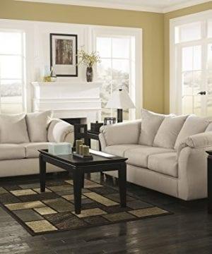 Ashley Furniture Signature Design Darcy Contemporary Microfiber Sofa Stone 0 2 300x360