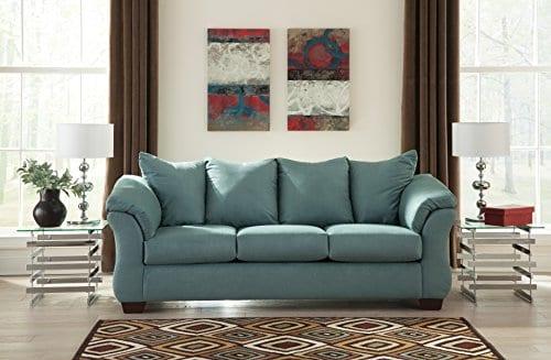 Ashley Furniture Signature Design Darcy Sofa 3 Seats Ultra Soft Upholstery Contemporary Sky 0 0