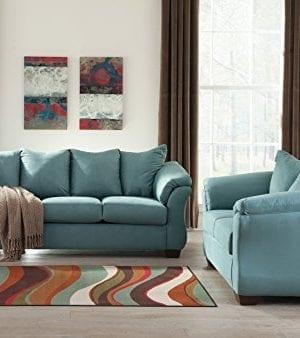 Ashley Furniture Signature Design Darcy Sofa 3 Seats Ultra Soft Upholstery Contemporary Sky 0 1 300x338
