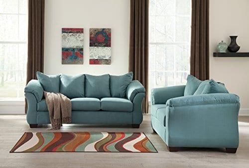Ashley Furniture Signature Design Darcy Sofa 3 Seats Ultra Soft Upholstery Contemporary Sky 0 1