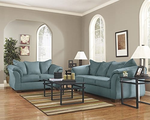 Ashley Furniture Signature Design Darcy Sofa 3 Seats Ultra Soft Upholstery Contemporary Sky 0 2