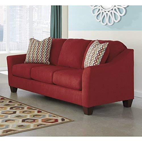 Ashley Furniture Signature Design Hannin Loveseat With 2 Accent Pillows Contemporary 0 0