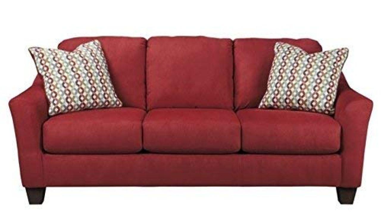 Signature Design By Ashley Furniture Hannin Queen Sleeper Sofa In Lagoon Baci Living Room