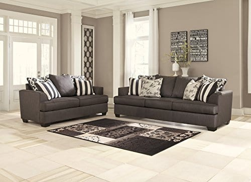 Ashley Furniture Signature Design Levon Sofa Classic Style Charcoal Gray 0 0