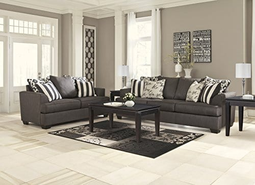Ashley Furniture Signature Design Levon Sofa Classic Style Charcoal Gray 0 1