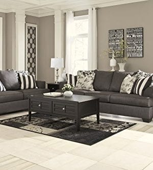 Ashley Furniture Signature Design Levon Sofa Classic Style Charcoal Gray 0 2 300x333