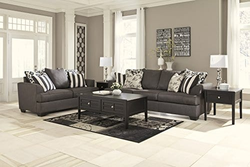Ashley Furniture Signature Design Levon Sofa Classic Style Charcoal Gray 0 2