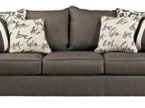 Signature Design by Ashley - Levon ClassicSofa, Charcoal Gray
