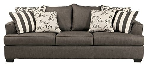 Ashley Furniture Signature Design Levon Sofa Classic Style Charcoal Gray 0