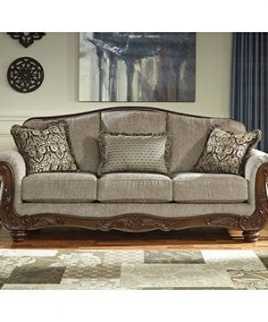Ashley Furniture Signature Design Martinsburg Sofa Traditional Couch Meadow With Brown Base 0 0 300x360