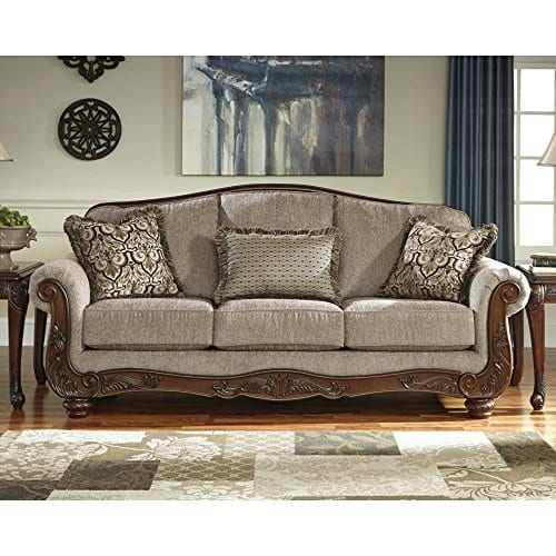 Ashley Furniture Signature Design Martinsburg Sofa Traditional Couch Meadow With Brown Base 0 0