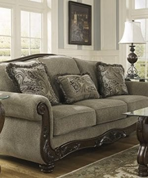 Ashley Furniture Signature Design Martinsburg Sofa Traditional Couch Meadow With Brown Base 0 1 300x360
