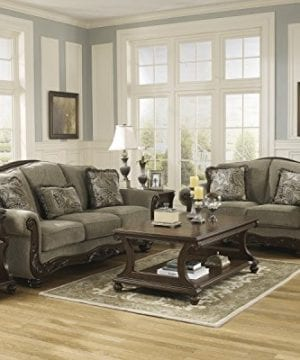 Ashley Furniture Signature Design Martinsburg Sofa Traditional Couch Meadow With Brown Base 0 2 300x360