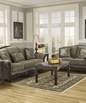 Ashley Furniture Signature Design Martinsburg Sofa Traditional Couch Meadow With Brown Base 0 3 300x360