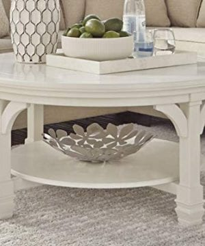 Ashley Furniture Signature Design Mintville Contemporary Round Cocktail Table White 0 0 300x360