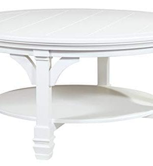 Ashley Furniture Signature Design Mintville Contemporary Round Cocktail Table White 0 300x325