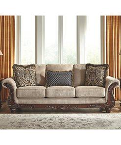 Ashley Furniture Signature Design Montgomery Sofa With 2 Throw Pillows Farmhouse Goals