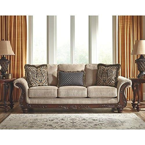 Ashley Furniture Signature Design Montgomery Sofa With 2 Throw Pillows 0 0