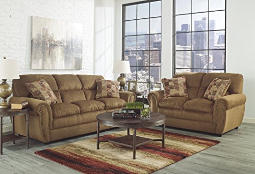 Ashley Furniture Signature Design Sandling Occasional Table Set End Tables And Coffee Table 3 Piece Round Rustic Brown 0 1