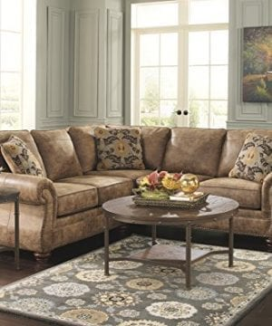 Ashley Furniture Signature Design Sandling Occasional Table Set End Tables And Coffee Table 3 Piece Round Rustic Brown 0 2 300x360