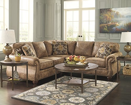 Ashley Furniture Signature Design Sandling Occasional Table Set End Tables And Coffee Table 3 Piece Round Rustic Brown 0 2