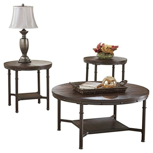Coffee Tables And End Tables Sets Rustic End Tables: Ashley Furniture Signature Design Sandling Occasional