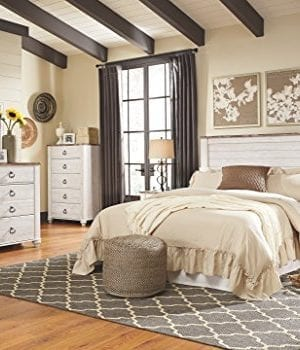 Ashley Furniture Signature Design Willowton Chest Of Drawers Contemporary Dresser Two Tone 0 1 300x350