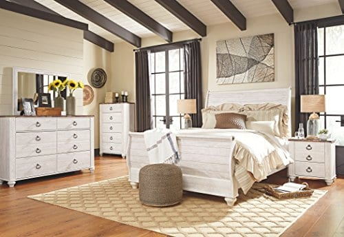 Ashley Furniture Signature Design Willowton Chest Of Drawers Contemporary Dresser Two Tone 0 2