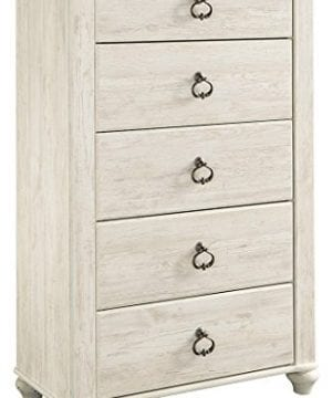 Ashley Furniture Signature Design Willowton Chest Of Drawers Contemporary Dresser Two Tone 0 300x360