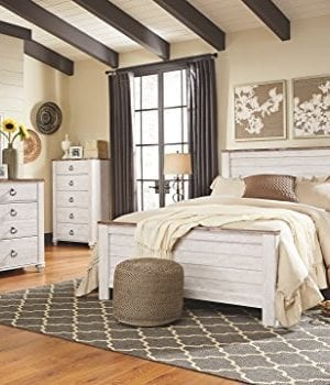 Ashley Furniture Signature Design Willowton Chest Of Drawers Contemporary Driftwood Inspired Dresser Two Tone Finish 0 2 300x350