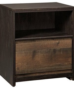 Ashley Furniture Signature Design Windlore Nightstand Contemporary 1 DrawerCubby 2 USB Charging Stations Power Cord Included Two Tone Brown Finish 0 300x360