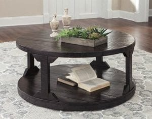 Ashley Rogness Round Cocktail Table In Rustic Brown 0 300x234
