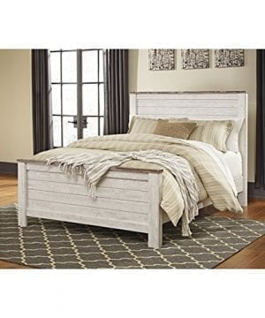 Ashley Willowton Queen Panel Bed In Whitewash 0 300x360