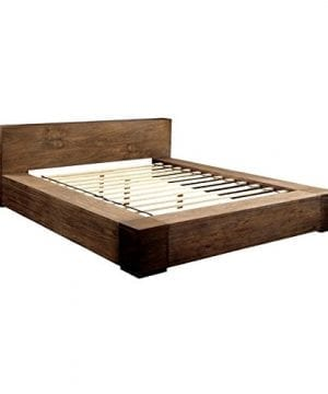 BOWERY HILL Queen Platform Bed In Rustic Natural 0 0 300x360