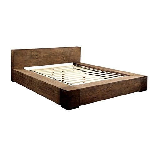 BOWERY HILL Queen Platform Bed In Rustic Natural 0 0