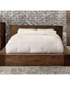 BOWERY HILL Queen Platform Bed In Rustic Natural 0 300x360