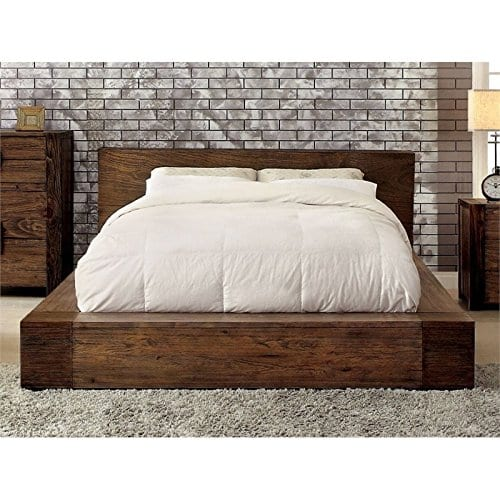 BOWERY HILL Queen Platform Bed In Rustic Natural 0