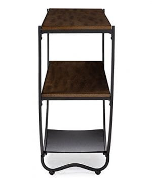 Baxton Studio Blakes Rustic Industrial Style Antique Textured Metal Distressed Wood Console Table Black 0 2 300x360